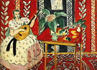 HENRI MATISSE -  The Lute 1943 - EXTRA LARGE CANVAS PRINT - A1