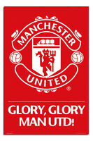 Manchester United Club Crest Large Maxi Wall Poster New - Laminated Available