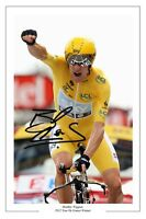 BRADLEY WIGGINS 2012 TOUR DE FRANCE SIGNED AUTOGRAPH PHOTO PRINT