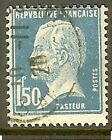 "FRANCE TIMBRE STAMP N°181 ""TYPE PASTEUR, 1 F 50 BLEU"" OBLITERE TB"