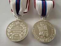 Queens Silver Jubilee Medal Court Mounted , Full Size, Ribbon, Army, Police, New