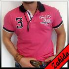 Polo Homme T-Shirt Manches courtes à capuche Club Blanc Rose