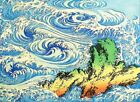 "Hiroshige Whirlpools VINTAGE JAPANESE ART- CANVAS ART PRINT Poster 16""X 12"""