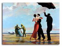 "BANKSY Singing in the Rain CANVAS ART PRINT 16""X 12"" Graffiti Art poster"