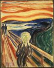"EDVARD MUNCH `the scream' painting A2 CANVAS PRINT Art Poster 18""X 24"""