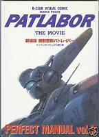 Patlabor The Movie Perfect Manual Volume 3 Art Book