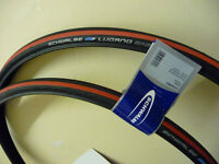 PAIR OF SCHWALBE LUGANO 700X23 RED ROAD CYCLE/BIKE TYRES NEW