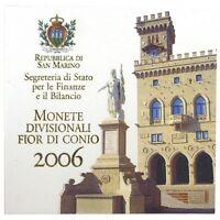 SAN MARINO SERIE DIVISIONALE 2006 CON 5 EURO ARGENTO Melchiorre Delfico