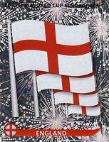 Panini Sammelbilder Fußball WM 2010 Nr. 183 England Wappen Logo Glitzersticker