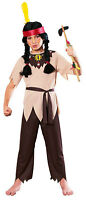 Native American Warrior Indian Brave Boy Fancy Dress Up Halloween Child Costume