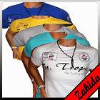 Camiseta Manga Corta Cuello Redondo Pico Camisa De Club Fiesta Para Hombre Nuevo