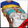Polo Homme T - Shirt à Manches Courtes Col Rond v - Cou Chemise Club Clubwear