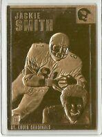 JACKIE SMITH ~ 22kt gold Football Card ~ ST. LOUIS CARDINALS ~ Danbury Mint