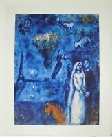 """Marc Chagall """"Künstler und seine Frau"""" 24 x 30 cm (179)"""