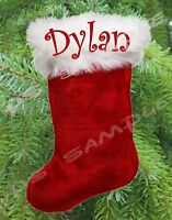 Christmas STOCKING Flexible Fridge MAGNET Personalized for Free