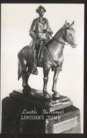 REAL PHOTO Postcard SPRINGFIELD,IL  Lincoln's Tomb Sculpture Titled THE RANGER