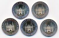 Deutschland 2 € Euro GM 2006 Holstentor alle 5 Prägestätten A-D-F-G-J bankfrisch