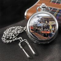 Steam Train Pocket Watch