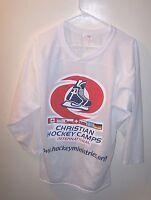 Cool Lightweight White Christian Hockey Camps Hockey Jersey Man S
