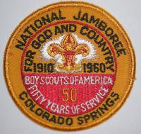 SALE #1 1960 National Boy Scout Jamboree Pocket Patch Twill Right MINT! Jambo NJ