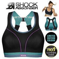 Shock Absorber Ultimate Run Black / Baltic Sports Bra New Sizes 32-38 A-F