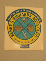 1973-74 Henry S Richards Boys Club Decal Sticker