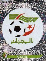Panini Sammelbilder Fußball WM 2010 Nr. 221 Algerien Wappen Logo Glitzersticker