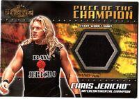WWE Chris Jericho 2001 Fleer Championship Clash Event Worn Shirt Card Black DWC