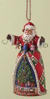 Heartwood Creek O'Tannenbaum Santa Hanging Christmas Tree Ornament  NEW  18149