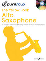 ALTO SAXOPHONE MUSIC BOOK & CD PURE SOLO THE YELLOW BOOK NEW VARIOUS STYLES