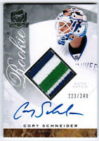 2008 09 UD UPPER DECK THE CUP CORY SCHNEIDER AUTO PATCH RC /249 5 COLOR BREAKS