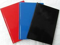 A4 A5 A6 RULED LINED HARDBACK NOTEBOOK NOTE BOOK HARD BACK NOTEPAD PAD A101