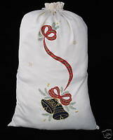 Christmas Gift Sack Tartan Scottish Bells Parcel Santa