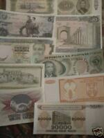 world paper money lot of 25 diff.-high catalog value