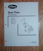 ARIENS 938019 - 522, 938300 - 522 SNO -THRO PARTS MANUAL