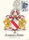 FDC CP 1950 JOURNEE DU TIMBRE YVERT 863 STRASBOURG - C1