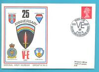 25th ANNIVERSARY V.E.DAY.NATIONAL ARMY MUSEUM COMMEMORATIVE COVER.8 MAY 1970