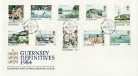 FDC GUERNESEY 1984 SERIE COURANTE