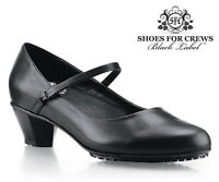 SFC Shoes For Crews Sienna Black Women's Leather 3704 Size 5.5 / 36 $65