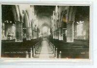 WREXHAT, ENGLAND PARISH CHURCH INTERIOR REAL PHOTO  (383-60)