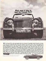 """1962 Triumph TR-4 TR4 Convertible photo """"Takes to Beat TR-3?"""" vintage print ad"""