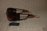 NWT Liz Claiborne sunglasses brown frame and handles 100% UV Protection