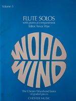 FLUTE SOLOS Volume 3 with piano accompaniment  Editor Trevor Wye