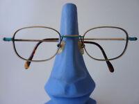 Brille Damen Herren Unisex Brillenfassung Metall messing neu Gr.M