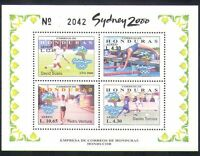 Honduras 2000 Football/Swimming/Olympics/Sports/Olympic Games 4v m/s (n35027)