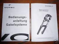 2 x Votec Federgabel Anleitungen für GS 3/4/5 & 6 Classic/Air & Air°2 Plus