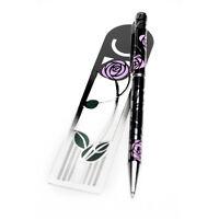 Sea Gems Gift Boxed Mackintosh Rose & Bud Bookmark & Pen Set 0920