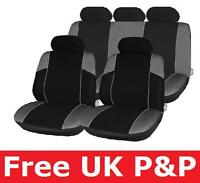 Car Seat Covers Protector Black & Grey for HONDA JAZZ 08 ON C45