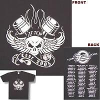ZZ TOP! WINGED SKULL 2005 TOUR BLACK T-SHIRT MEDIUM NEW