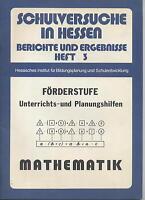 FÖRDERSTUFE Unterrichts- und Planungshilfen Mathematik HIBS